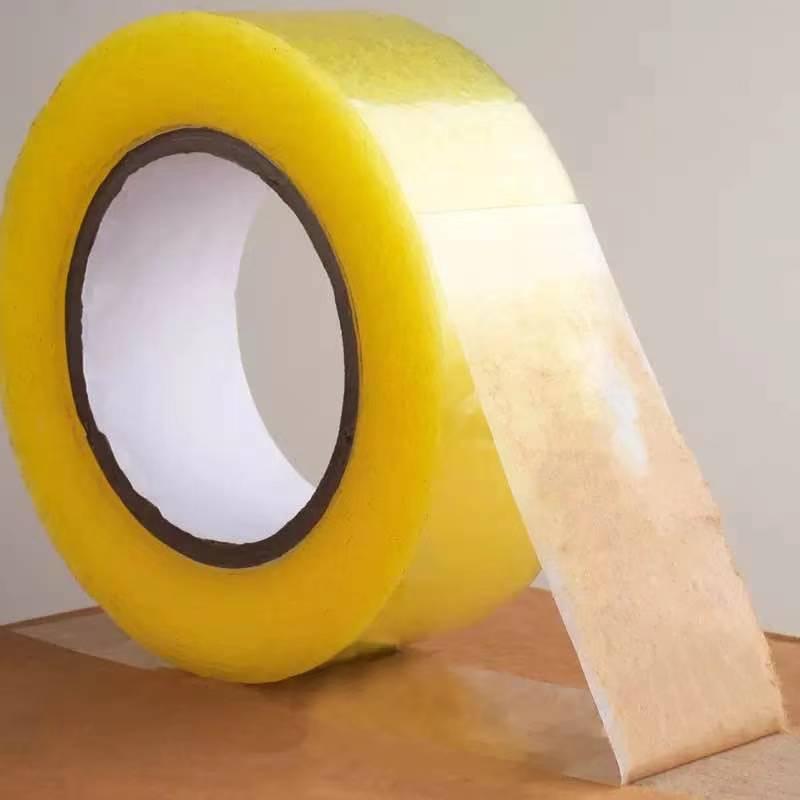 透明胶带批发大卷快递打包封箱胶带封口胶布高粘度宽胶带米黄胶纸主图4