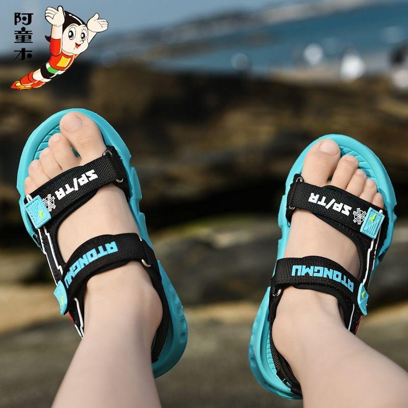75872-阿童木男童凉鞋中大童新款夏季儿童凉鞋男孩小学生软底沙滩鞋防滑-详情图