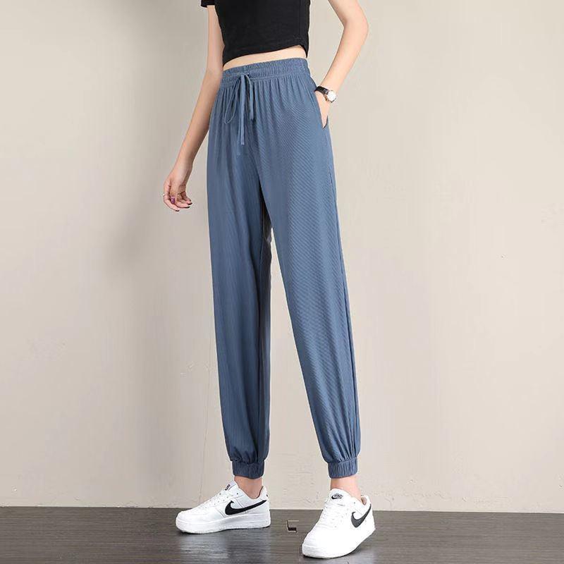 女生夏季阔腿裤 舒适透气 速干