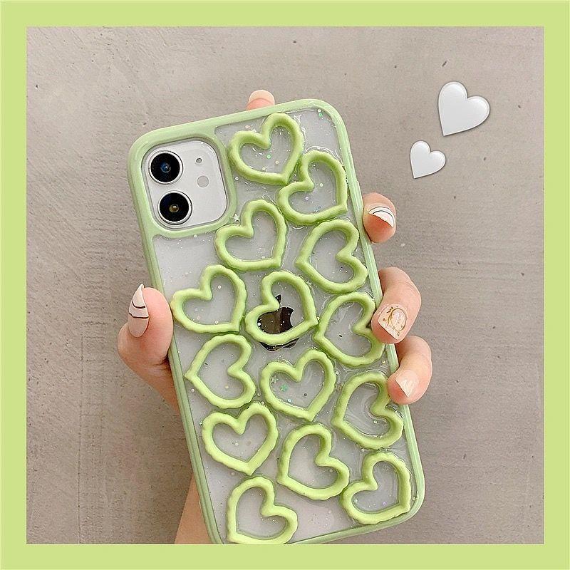 立体爱心苹果12pro手机壳