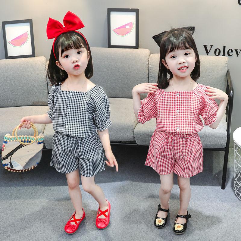 「短裤+上衣」女童套装夏装2021年新款