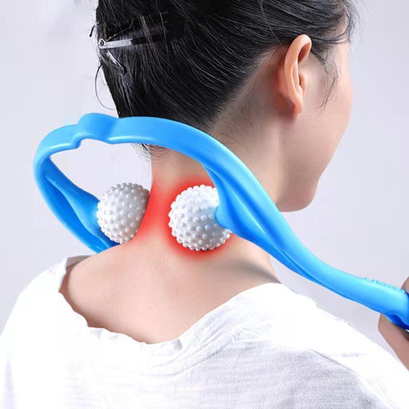 颈椎脖子按摩器腰肩腿部脊椎夹子家用手动可调式颈部穴位按摩神器