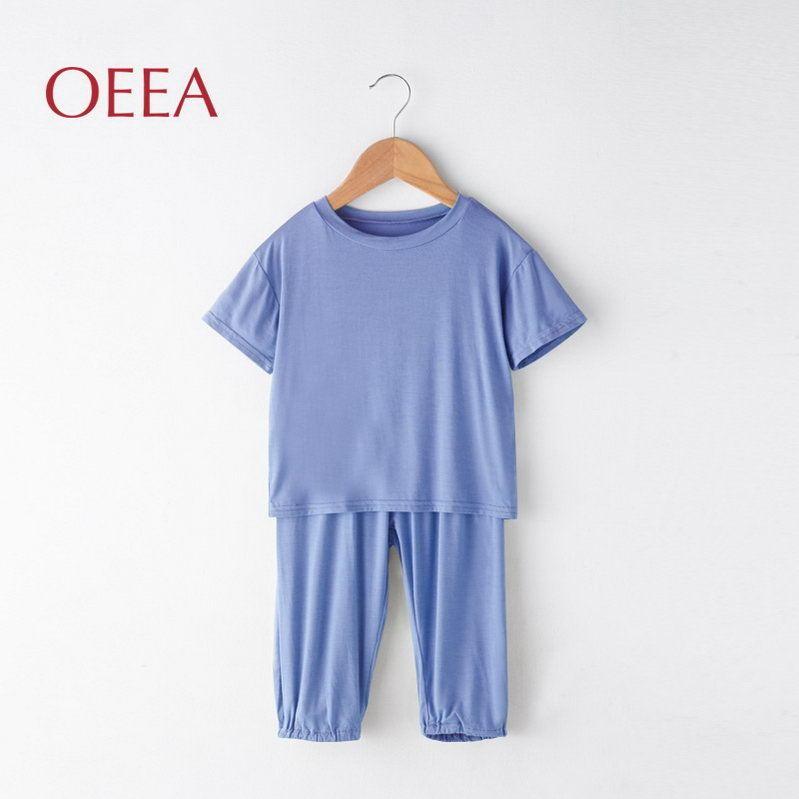 莫代尔防蚊家居套装80-150cm 儿童T恤衫 莫代尔T恤