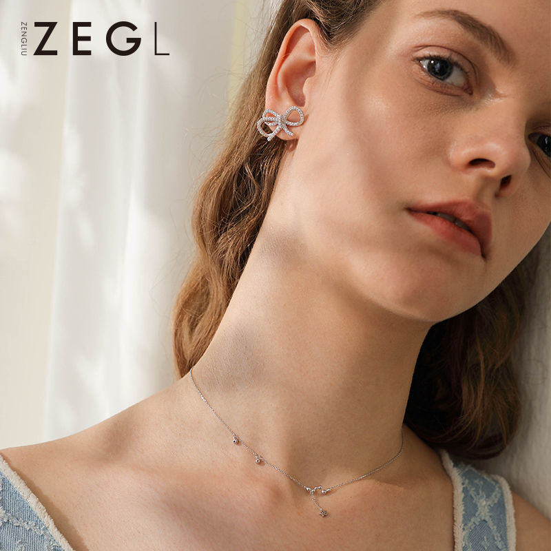 75837-ZEGL925银星星项链女气质锁骨链简约网红颈链脖子饰品生日礼物-详情图