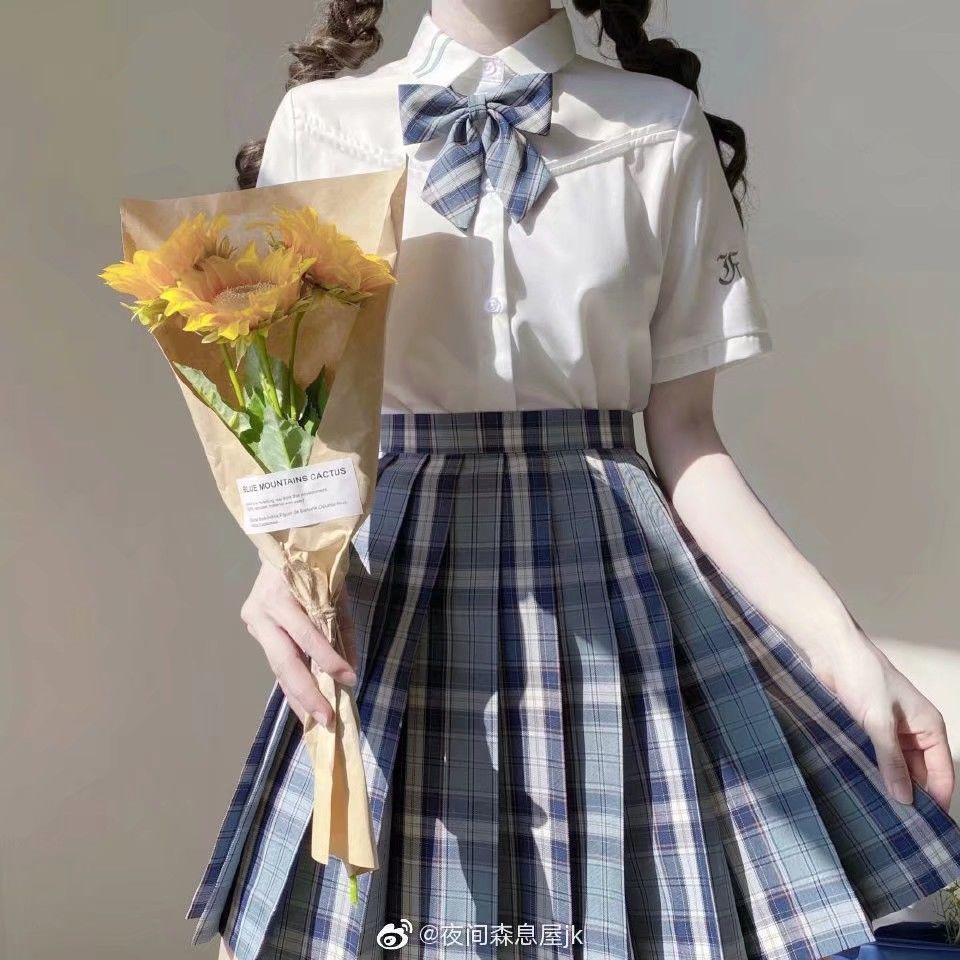 韩版jk领结衬衫女蝴蝶结平角装饰