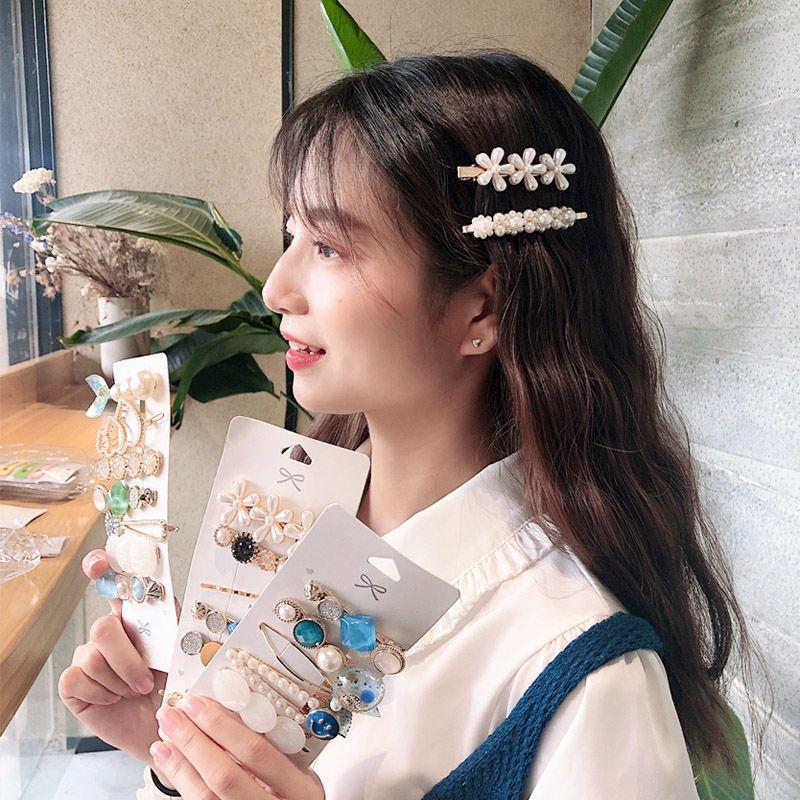 ns珍珠发夹夹子少女韩国头饰边夹后脑勺