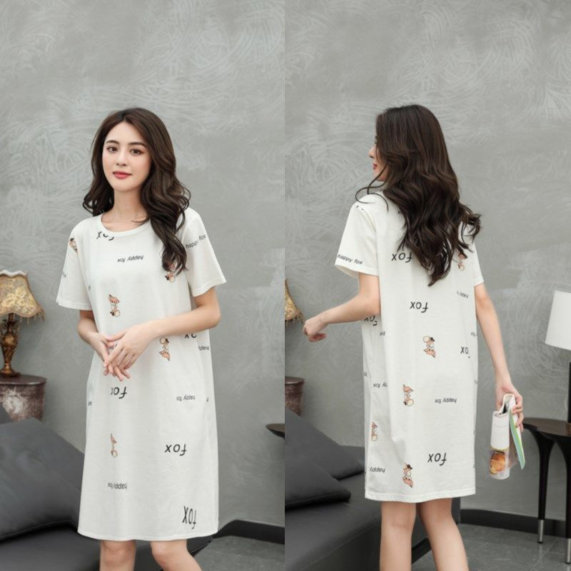 纯棉睡裙女士睡衣短袖夏季新款可爱公主风韩版加肥加大可外穿睡裙