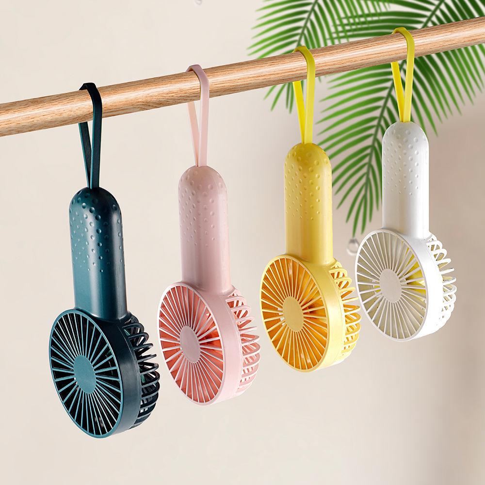 迷你风扇随身便捷式手持风扇超大风可充电户外静音挂脖小风扇学生