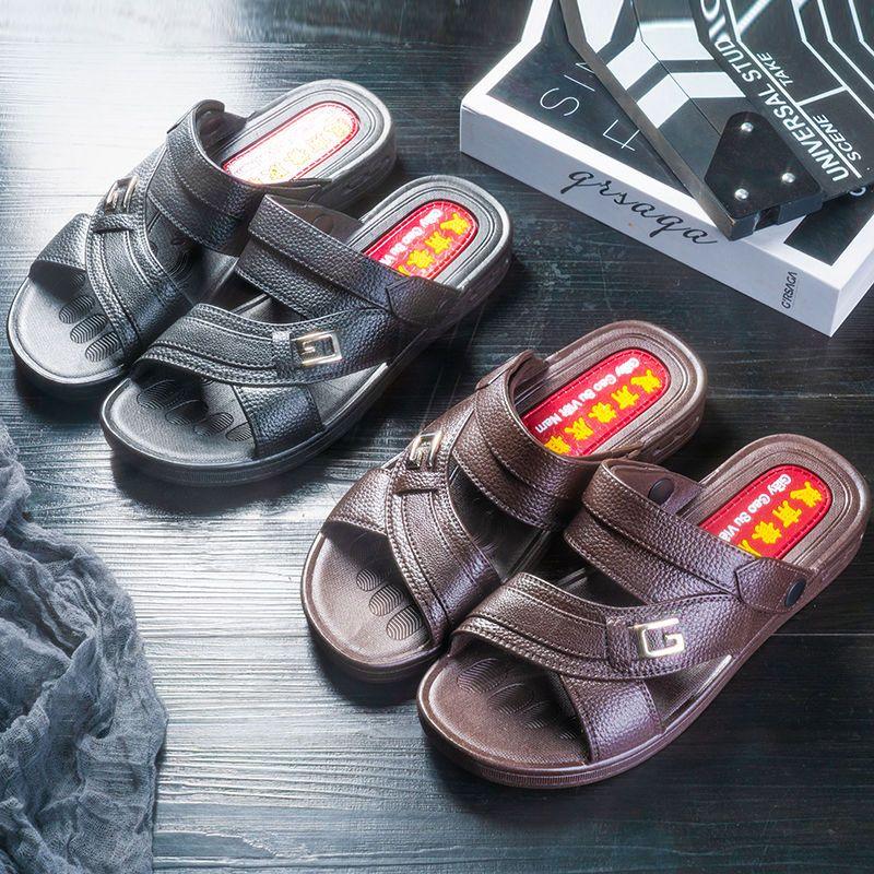 韩版防滑休闲男凉拖鞋舒适耐穿质量男士凉鞋
