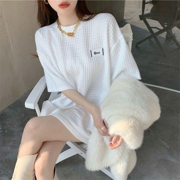 大白t恤女女装2021新款潮短袖t恤上衣女上衣女新款小众t恤炸街t恤