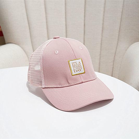 儿童帽子男潮春夏薄款男童鸭舌帽网眼儿童棒球帽女宝宝遮阳帽防晒