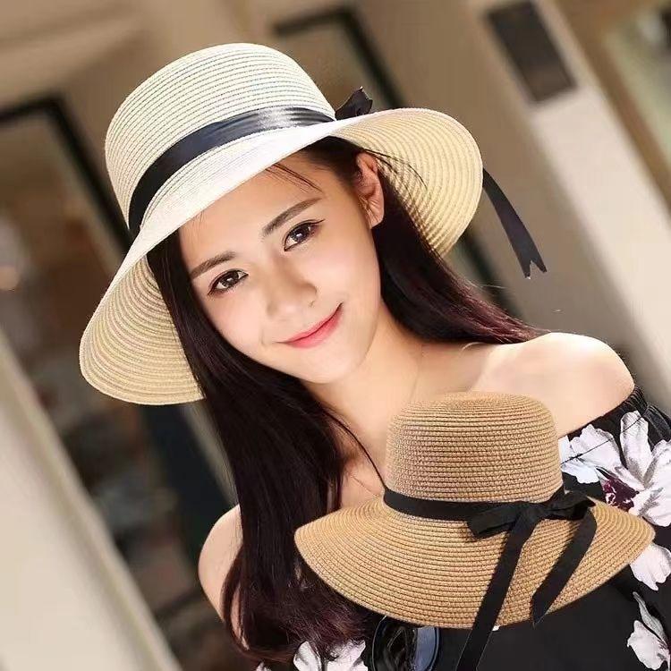 草帽新款海边沙滩帽子女夏气质百搭时尚