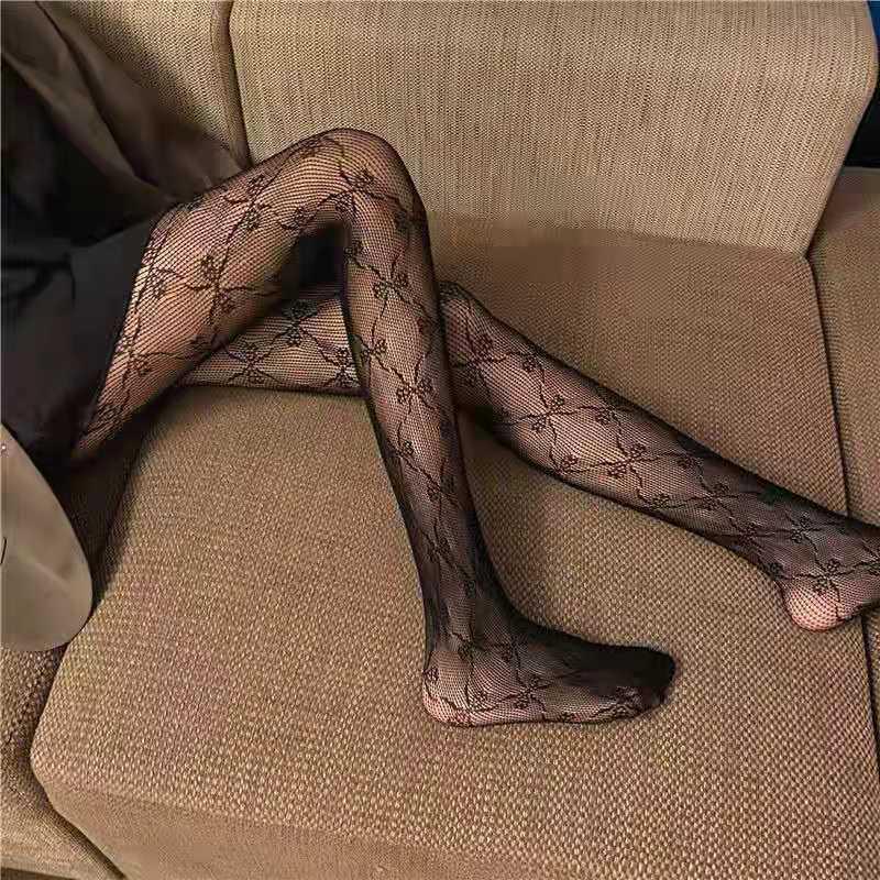 春夏季镂空花藤蕾丝长袜性感连脚裤袜打底裤女士美腿丝袜白色袜子
