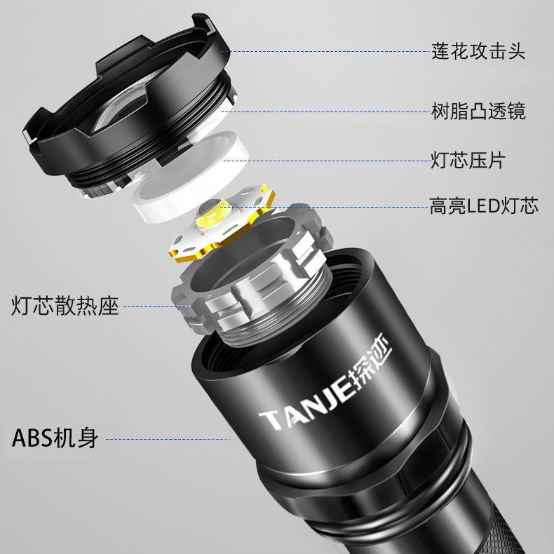 88406-强光超亮大功率特种兵手电筒LED远射可充电迷你袖珍便携小户外灯-详情图