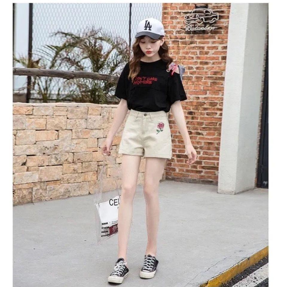 牛仔短裤女2021夏季新款韩版高腰显瘦