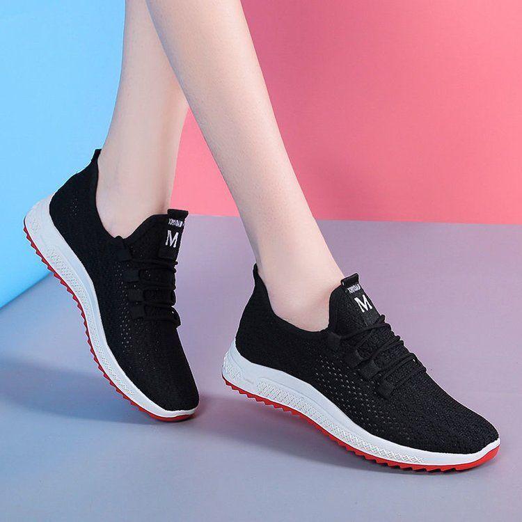 运动鞋女鞋2021年夏季新款网鞋轻便单鞋休闲跑步百搭透气网面小白