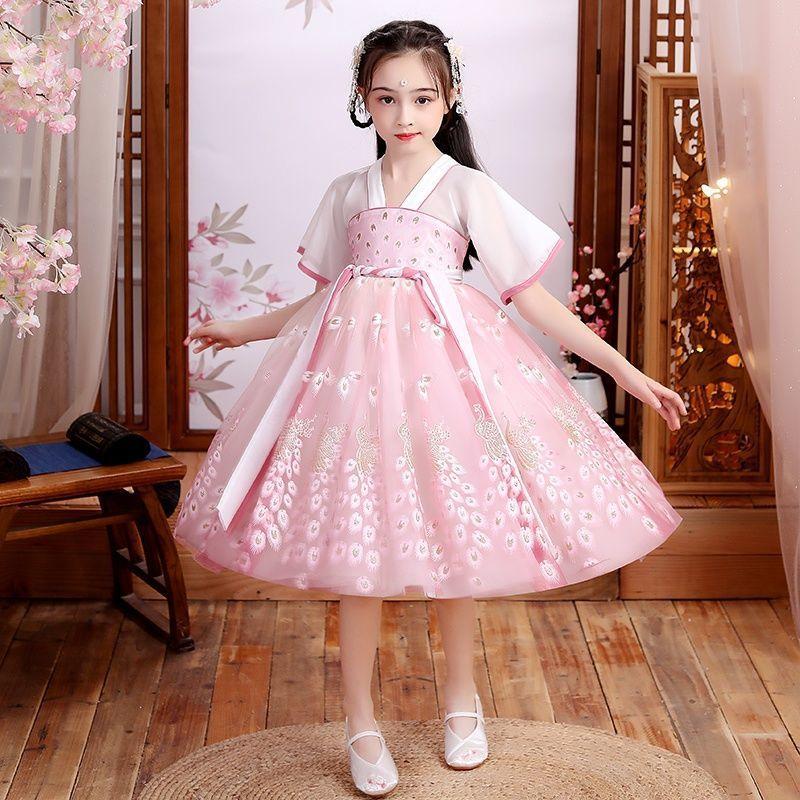 女童汉服古装小孩古风连衣裙