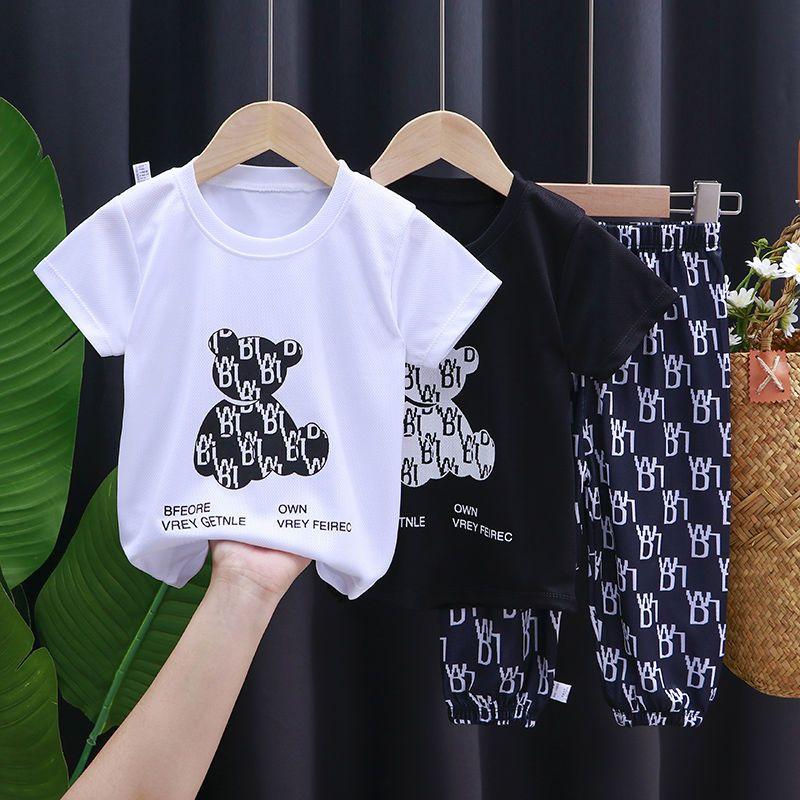 男童短袖套装夏季中大童七分裤宝宝运动服夏装女童速干洋气两件套