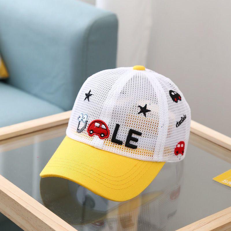 儿童帽子夏季网眼透气宝宝棒球帽男女童遮阳帽子女童防晒鸭舌帽网