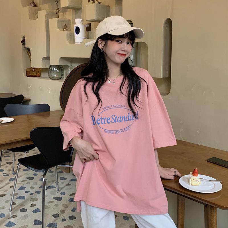 季新款韩版宽松BF慵懒风半袖潮百搭上衣服