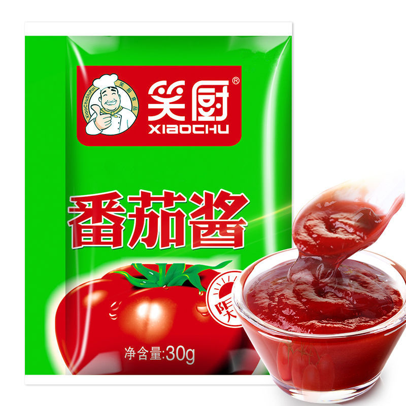 笑厨袋装新疆纯番茄酱10袋*30g阳光大番茄经天山雪水灌溉酸甜美味