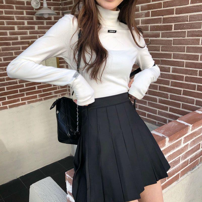 2021夏季新款半身裙高腰显瘦学生A腰