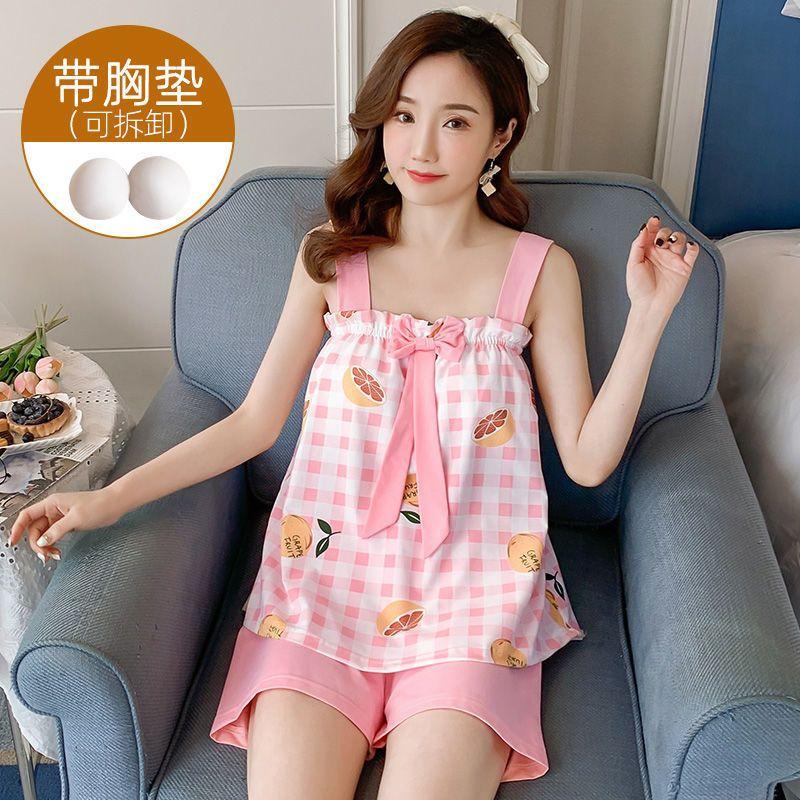 夏季新款睡衣80-180斤加大码宽松吊带