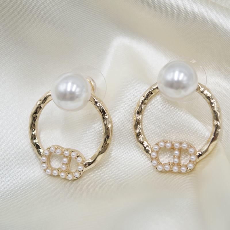 淡水天然珍珠耳钉大颗纯银新款真珍珠耳钉
