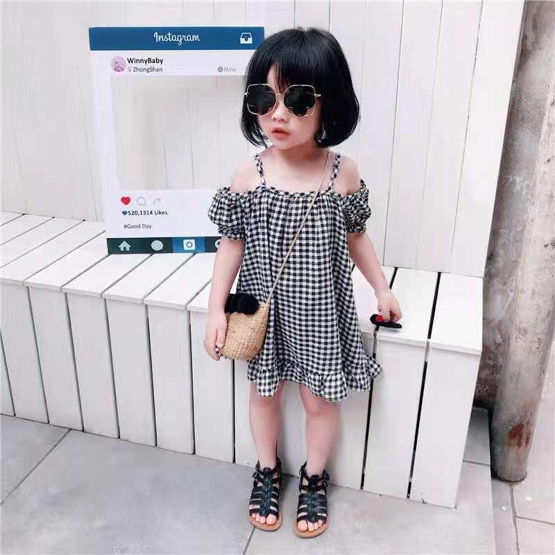 儿童棉麻裙子童装2021新款韩版女童女宝