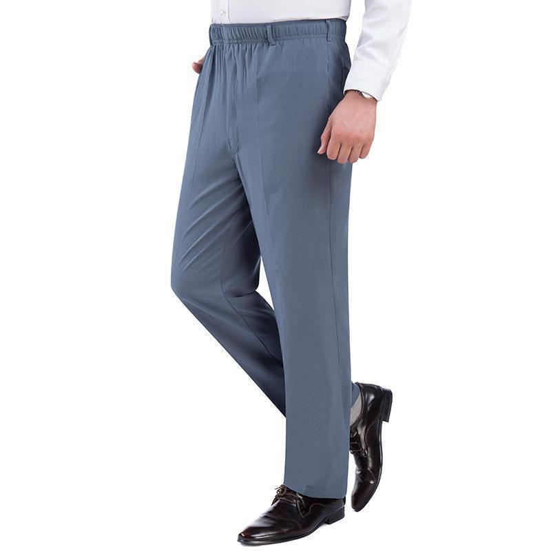 新款男士冰丝休闲裤子 运动高腰裤退货包邮