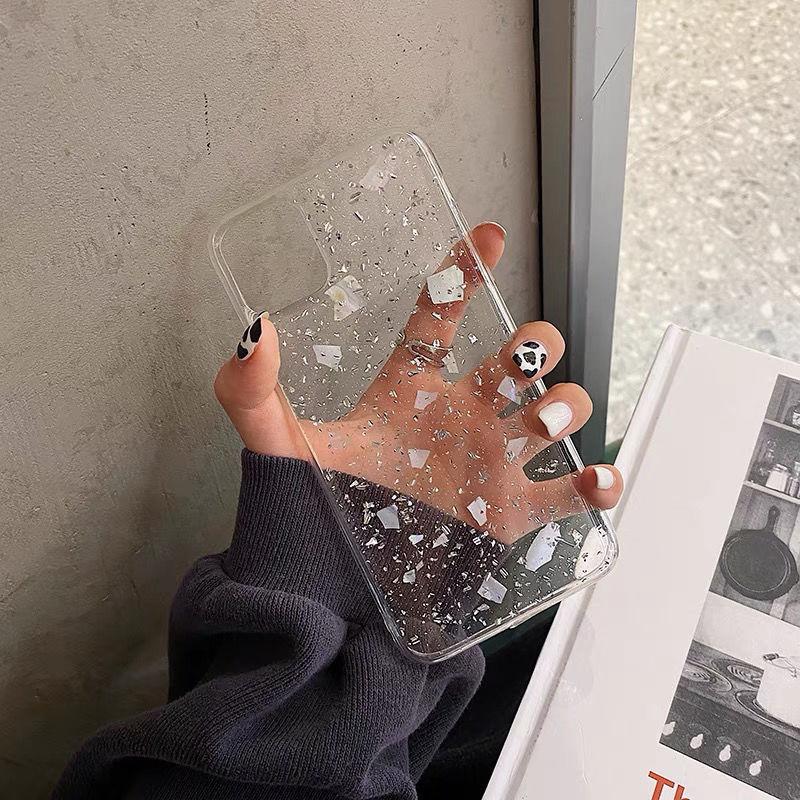 银箔贝壳苹果12手机壳