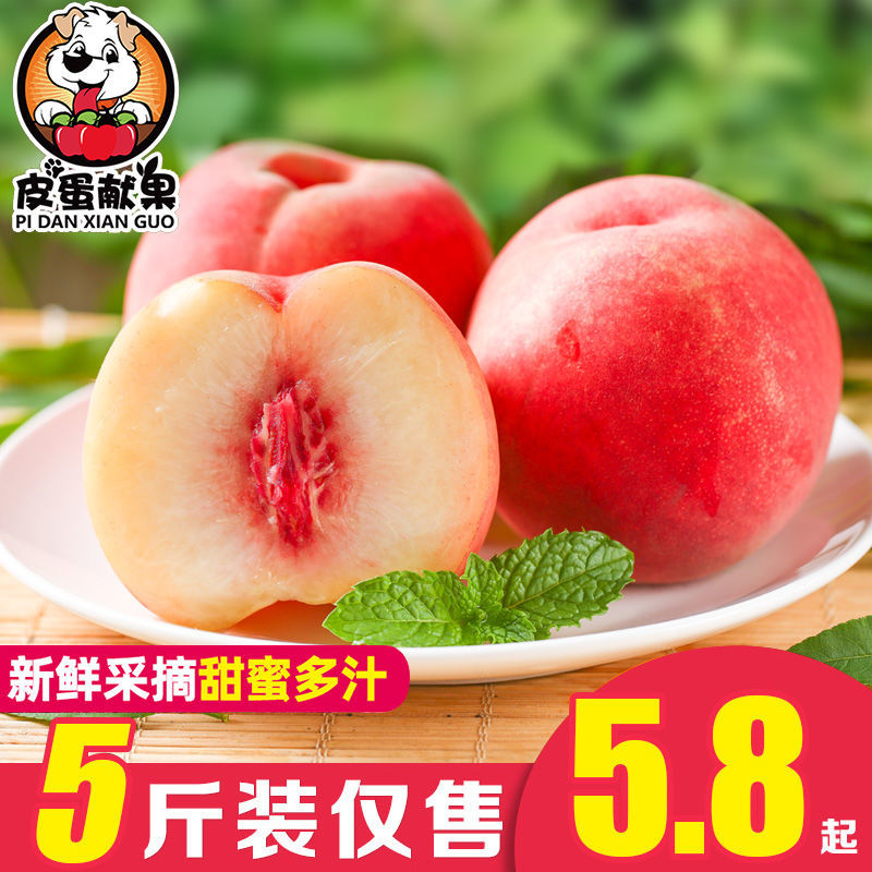 新鲜桃子水果水蜜桃当季孕妇水果1-5斤现摘现发脆桃毛桃非油桃【6月11日发完】