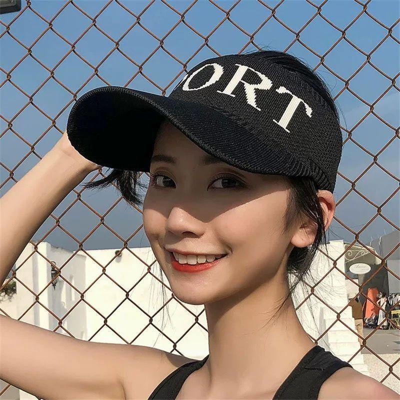 女士帽子夏季防晒遮阳空顶帽棒球帽子