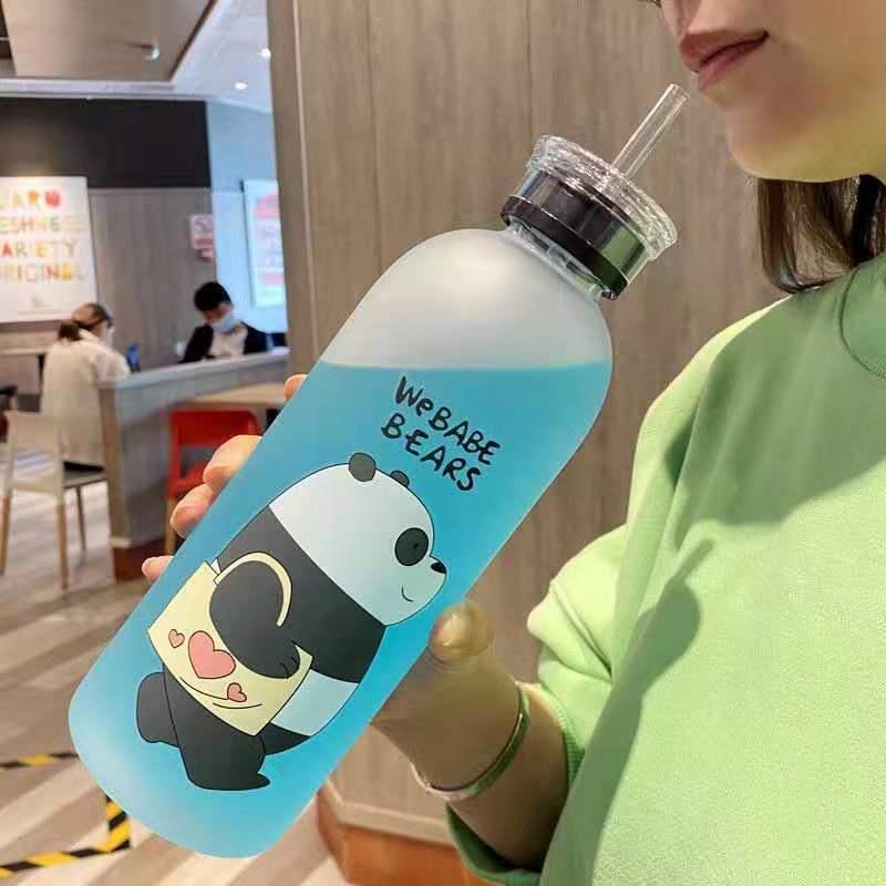 大容量塑料吸管水杯女男学生韩版杯子