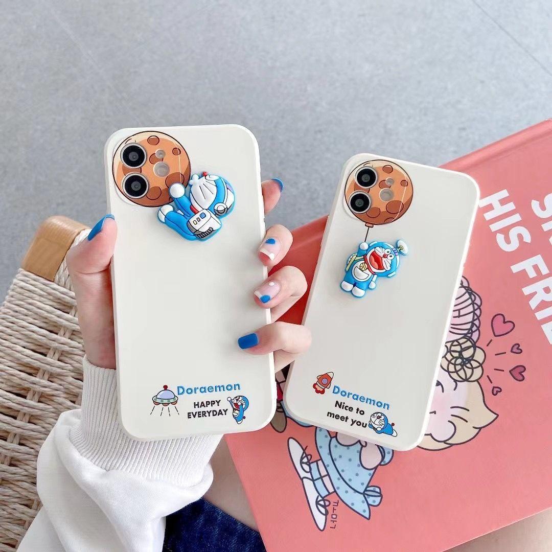 可爱风哆啦A梦地球12/11Pro/Max苹果11手机壳X/XS/XR情侣7/8p软胶