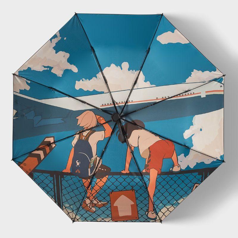 日系伞雨伞女少女心INS晴雨两用遮阳伞太阳伞防晒防紫外线复古风