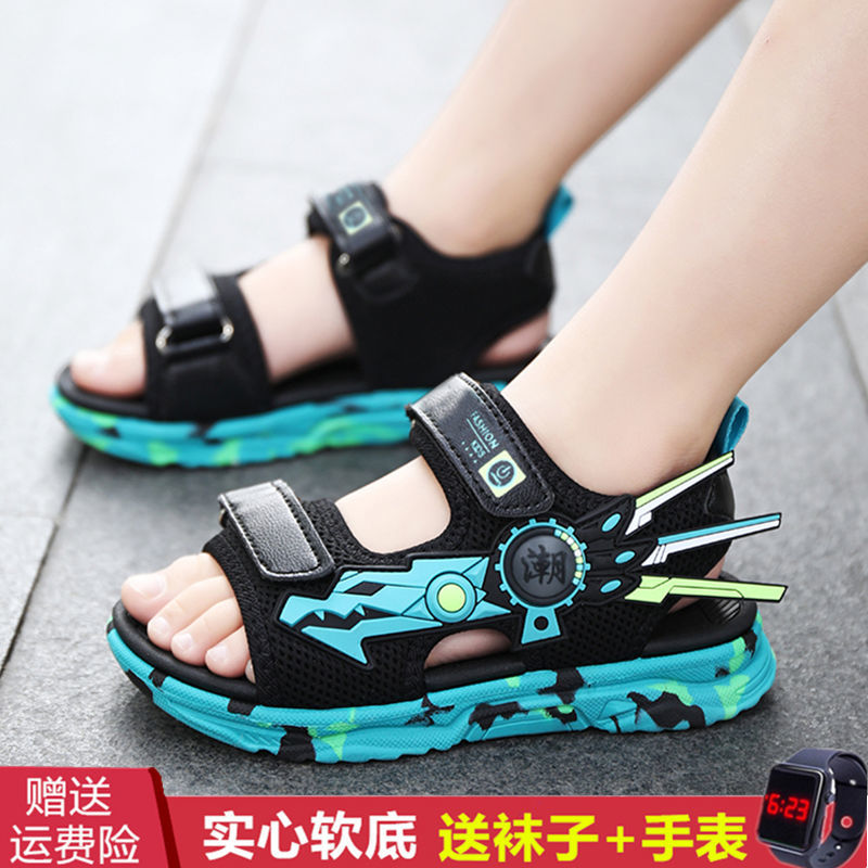 男童凉鞋2021新款夏季中大童男孩软底防滑小学生凉鞋儿童沙滩凉鞋