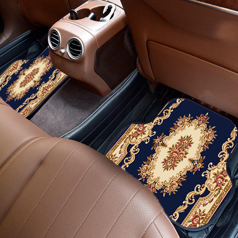 54188-欧式汽车脚垫复古大气单片通用款脚踏垫子四季绒面防滑可水洗车垫-详情图