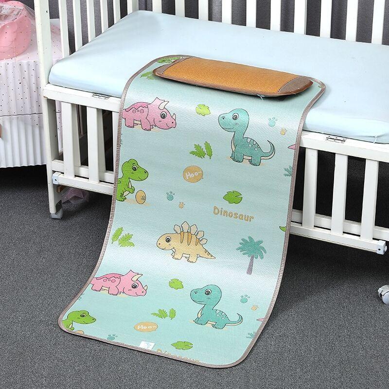 幼儿园午睡藤席宝宝婴儿床冰丝凉席婴儿凉席儿童透气新生儿席子夏主图1