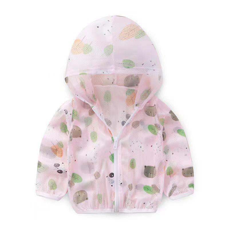 儿童防晒衣中小童超薄透气皮肤衣男女童宝宝防紫外线长袖外套