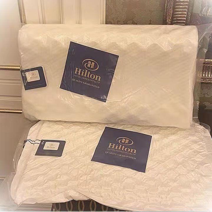 37850-希尔顿酒店枕芯 记忆棉聚合乳胶枕芯软枕头成人保健枕一只一对装-详情图