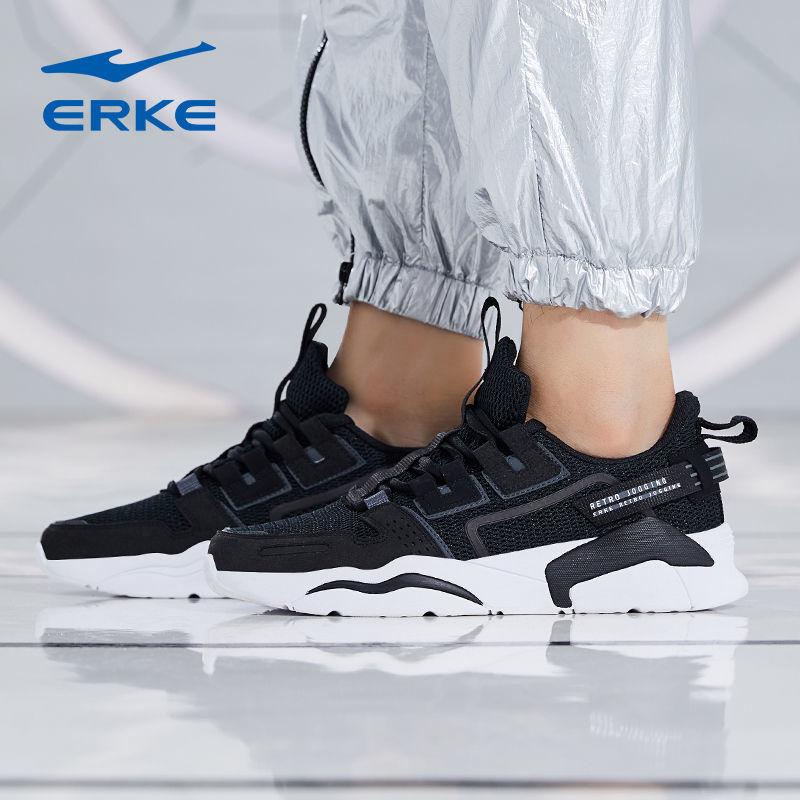 54252-鸿星尔克运动鞋男款跑鞋2021新款黑色夏季透气百搭休闲男士潮鞋-详情图