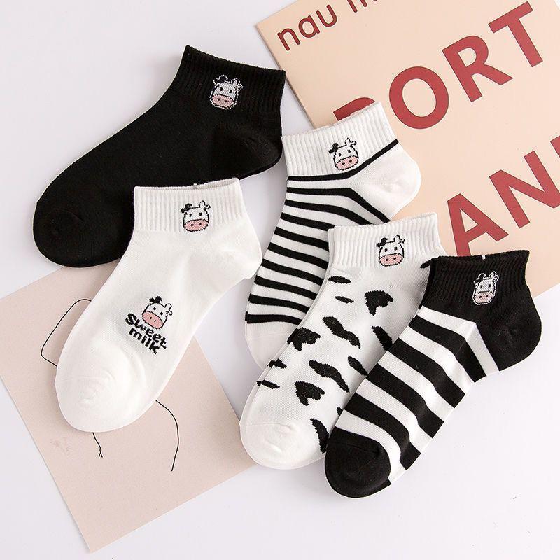 短袜女士夏季透气防臭船袜女低帮隐形袜韩版学生可爱纯棉运动袜女