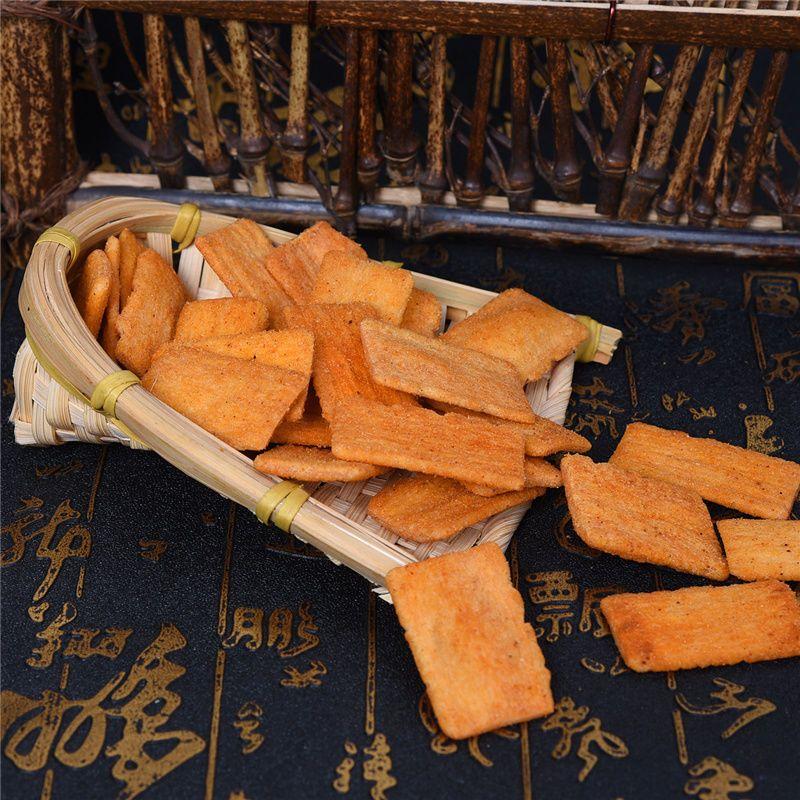 88787-桶装脆锅巴3桶630克网红小吃脆锅巴休闲食品宿舍零食桶装特产锅巴-详情图