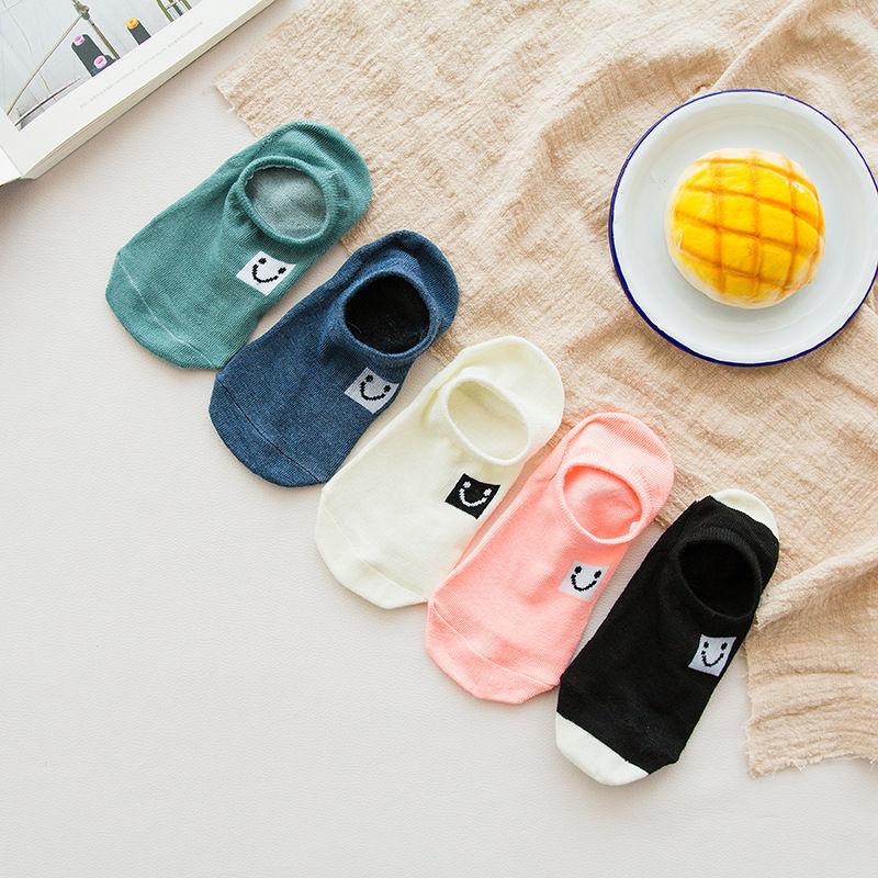 袜子女夏季薄款韩版短船袜学生可爱原宿风潮流糖果色女士浅口棉袜