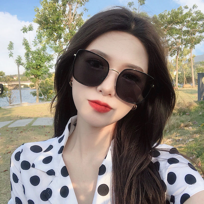 75834-圆脸潮墨镜女2021新款GM太阳镜大脸显瘦明星同款网红复古韩版眼镜-详情图