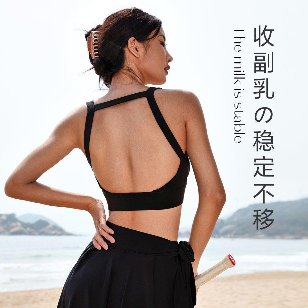 75802-LaNikar运动内衣女收副乳防下垂美背健身大胸防震跑步瑜伽文胸夏-详情图