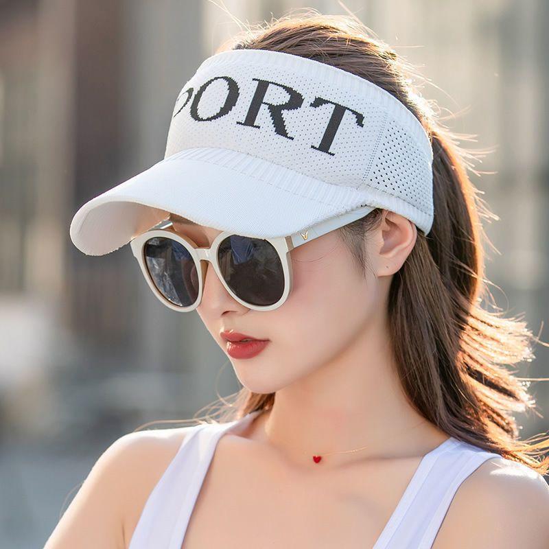 54140-帽子女夏季空顶遮阳防晒户外运动鸭舌帽骑车百搭防紫外线太阳帽潮-详情图