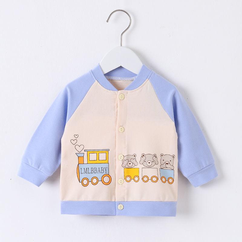 54143-宝宝纯棉外套春秋季男女小童卫衣开衫新款婴儿上衣长袖秋装棒球服-详情图