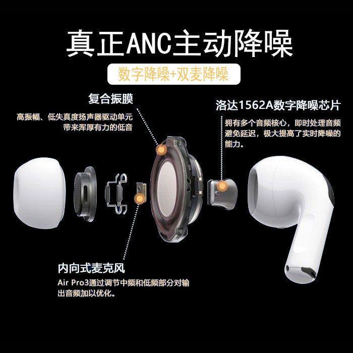 华强北洛达1562A三代无线蓝牙耳机真降噪通透空间ios安卓系统通用主图2